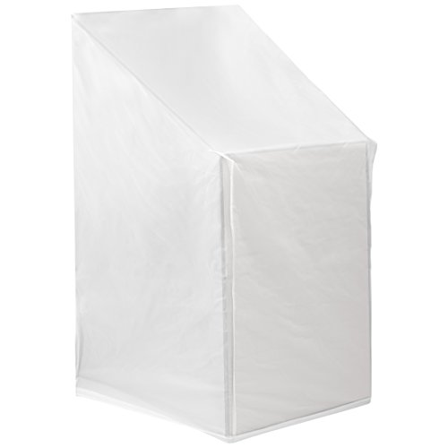 Ultranatura Gartenstuhl Schutzhülle, wasserdichte Abdeckung für Gartenstuhl, Balkonstuhl und Stapelstuhl mit Armlehne - universell passende Gartensessel Abdeckung in der Farbe weiß