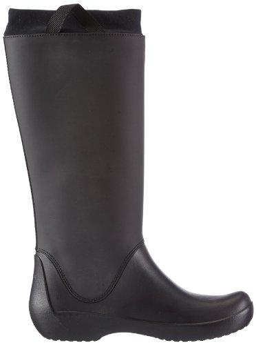 crocs Damen Rainfloe Boot Gummistiefel Schwarz (Black/Black)