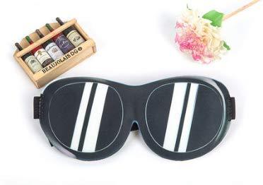 yzhk schlafmaske Schwarz Sommermuster Schlafmänner und Frauen blindes Maskenkind, das vortäuscht, Sonnenbrille zu tragen (Sonnenbrillen Blinde)