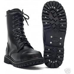 10-Loch Springerstiefel Ranger Stiefel schwarz mit Stahlkappe 39