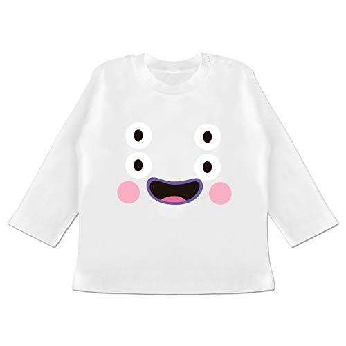 g Baby - Monster Kostüm Karneval - 12-18 Monate - Weiß - BZ11 - Baby T-Shirt Langarm ()