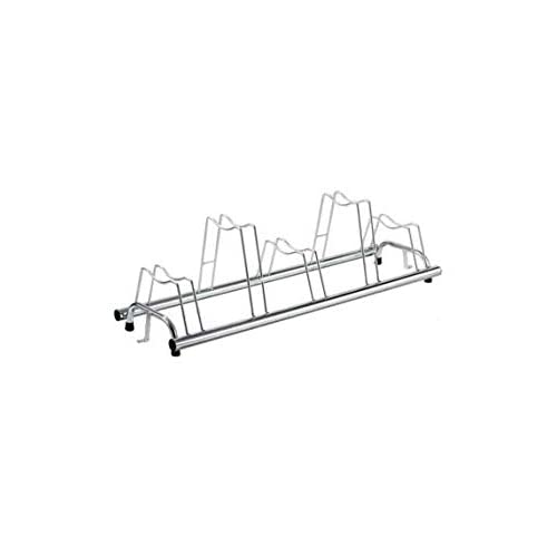 31Z5HNCTljL. SS500  - ANDRYS - Outdoor and Indoor Floor Bicycle Carrier - Bicycle Rack Up to 5 seats in Cold Galvanized Steel - Silver Rack…