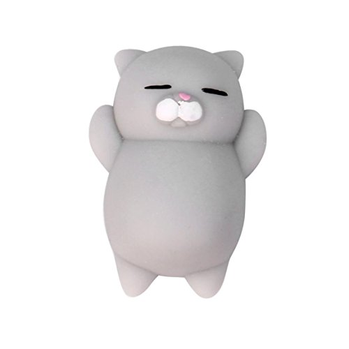 Stress Relieger Mochi Squishy Katze, Moonuy Nette Squeeze Healing Fun Kinder Kawaii Spielzeug Stress Reliever Dekor (A)