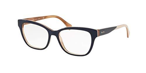Ralph Lauren Damen Brillengestelle 0RA7099, Blau (Top Blue/Striped Brown), 53