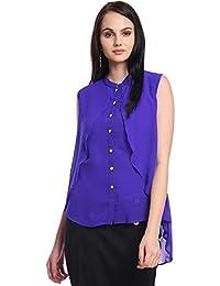 d42488fa488bd Itsyor Blue Color Short Shrug Design Women Women s top