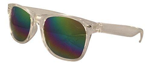 Ultra® Clear Frame con Rainbow Revo stile lenti adulti stile classico occhiali da sole leggeri occhiali da sole Unisex acrilico donne uomini lenti riflettenti UV400