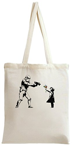 Banksy Star Wars And Little Girl Tote Bag -