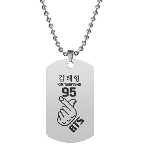 Christ For Givek KPOP Hip Hop Team Bangtan Boys BTS Army Colgante Collar Regalo Caliente para fanáticos(H05)
