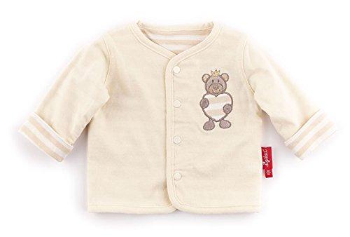 Sigikid Unisex - Baby Jacke Wendejacke, New Born 152201, Einfarbig, Gr. 56, Beige (Seedpearl 061) (Baumwolle Koch-mantel 100%)