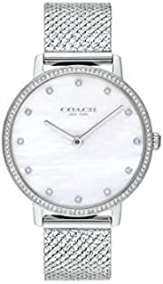 COACH AUDREY WOMEN's WHITE MOTHER OF PEARL DIAL WATCH - 1450