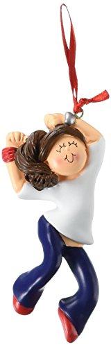 Ornement central Oc-184-fbr femelle Hip Hop figurine Brunette