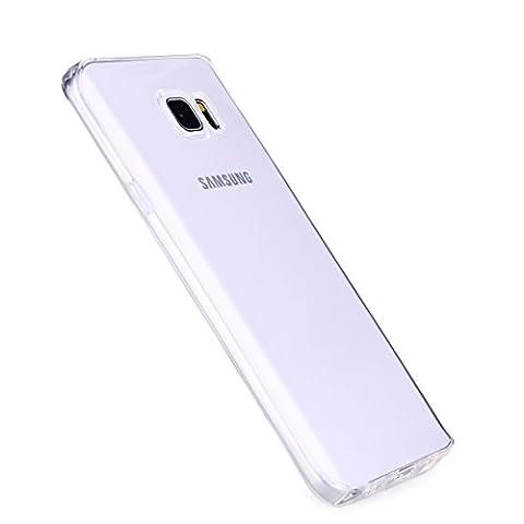 Liamoo® Samsung Galaxy Note 5 dünne rundum TPU Hülle Schutzhülle Cover Case Cover (klar)