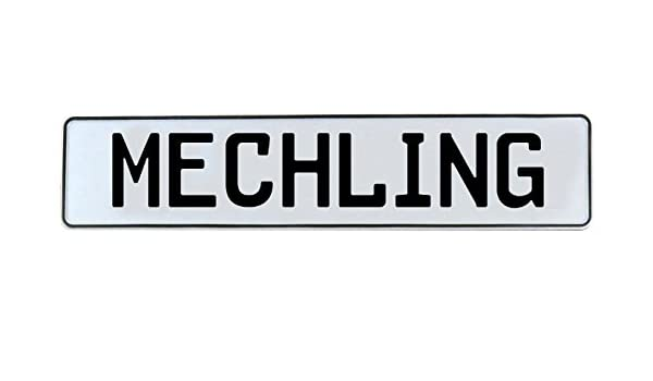 Vintage Parts 712414 Wall Art Mechling White Stamped Aluminum Street Sign Mancave