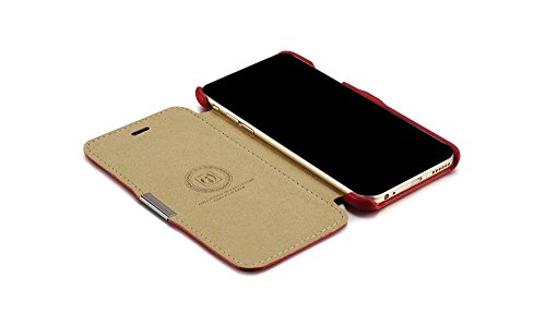 Étui de luxe série (couleur) Housse étui de protection en cuir véritable pour Apple iPhone 611,9cm orange