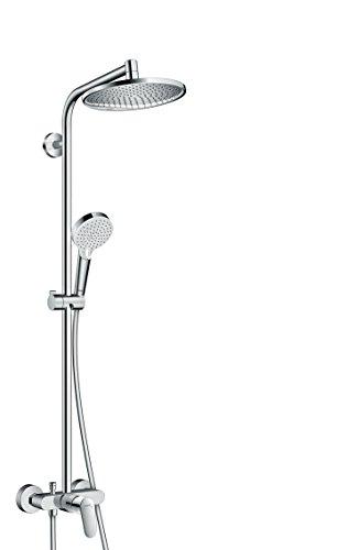 hansgrohe Crometta S 240 Duschsystem mit Einhebelmischer, 2 Strahlarten, chrom