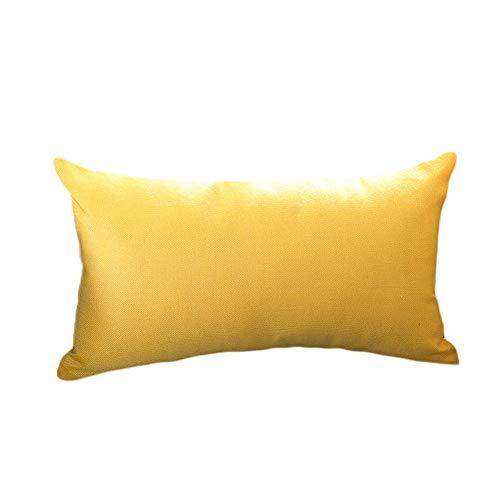 Monbedos - Funda de cojín de Lino y algodón, 30 x 50 cm, diseño Rectangular, Color Liso, Lino algodón...