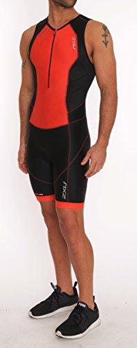 2XU Herren Perform Front Zip Trisuit Triathlon Einteiler blk