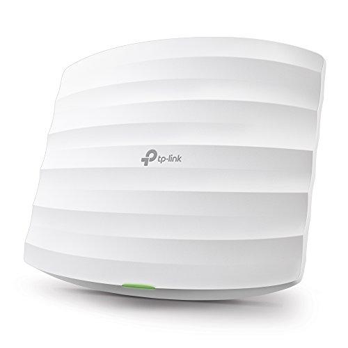 TP-Link EAP245 V3 AC1750 WLAN Access Point (Dualband 1750 Mbit/s mit MU-MIMO, professionelles Design für sehr große Reichweite, passend für Wand- und Deckenmontage, unterstützt 802.3af PoE )weiß