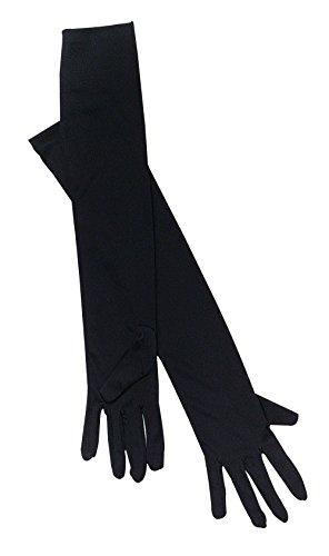 Bristol Novelty BA143Handschuhe, Schwarz, One size (Ellenbogen Satin-abend-handschuhe Länge)