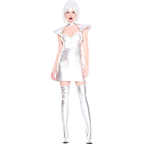 ZSJ~SW Die Rolle des Lackleders Spielen Anzug, Ironman Uniform, Bühnenkostüm, Halloween-Kostüm (Color : White, Size : Einheitsgröße)