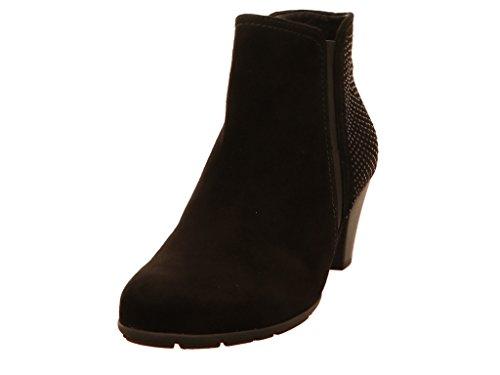 Gabor Damen Ankle Boots 75.641,Frauen Stiefel,Ankle Boot,Halbstiefel,Damenstiefelette,Bootie,knöchelhoch,Blockabsatz 5cm,F Weite (Normal),Schwarz,UK 8 (Schwarz Soft Booties)