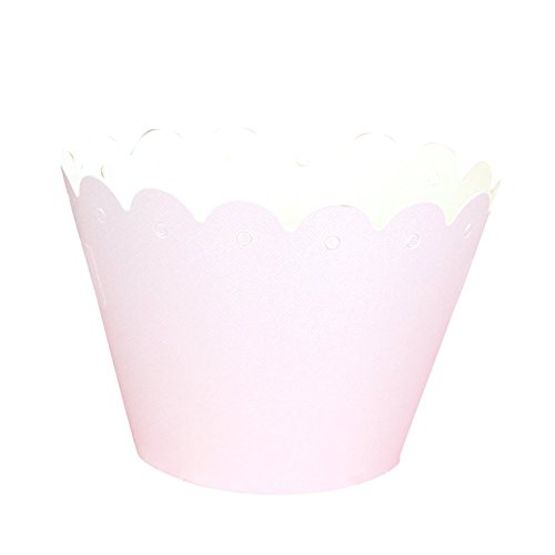 remeehi Halloween Cupcake Pappbecher Runde Backform DIY Fondant Muffin Formen Patisserie Backform Hochzeit Candy Boxen zusammenklappbar DIY Fall Geschenk-Box Party Supplies Sweetbox weiß 5 Stück