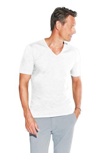 Herren Slim Fit V T-Shirt White