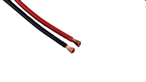 MR-Onlinehandel ® 2m hochwertigen 4mm² extra geschmeidige Silikonlitze / Silkonkabel im Set zu je 1m Schwarz und 1m Rot - Extra Litze