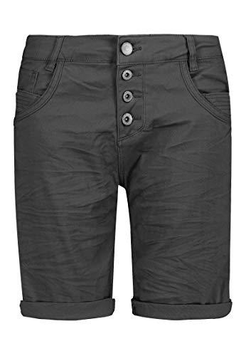 Sublevel Damen Bermuda-Shorts mit Aufschlag & Knopfleiste Dark-Grey XL