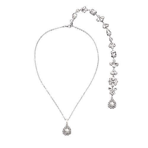 Reiko 1920S Lange Zurück Halskette Quaste Y Halskette Perlen Körperkette Rückenfreies Kleid Zubehör Brautschmuck Braut Hochzeit Abend Party