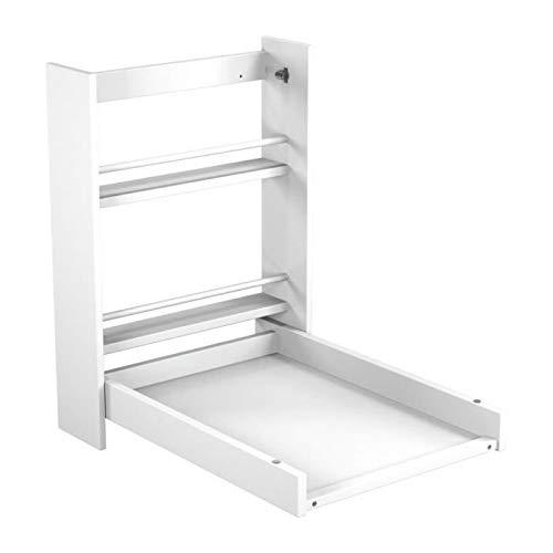 Ateliers T4-Tavolino per fasciatoio da parete bianco