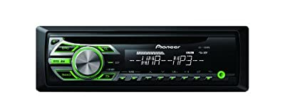 Pioneer DEH-150MPG CD RDS Tuner with WMA/MP3 playback and front illuminated Aux-In (Green)