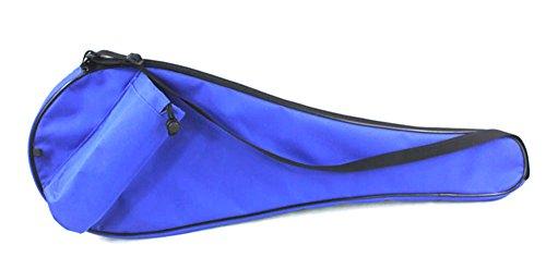 Cooplay Profi-Tasche für Badminton-Schläger, wasserdicht, Schultertasche mit Gurt, für bis zu 2 Schläger und Shuttlecocks, mit Halterung für Wasserflasche, ohne Badminton-Schläger, blau