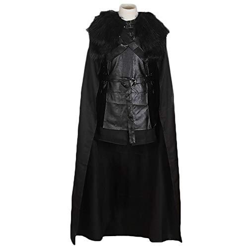 Mens Jon Snow Kostüm Game of Thrones Cosplay Kostüm Halloween Outfit, Schule Drama Performance Kleidung ()