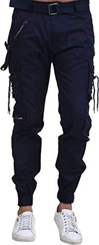 Men's Cotton Cargo (Blue , 30)