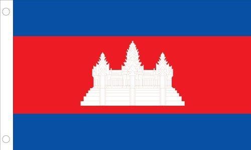 r Nylon Kambodscha United Nation Flagge, 4von druckknopfstiel von Allied Flagge ()