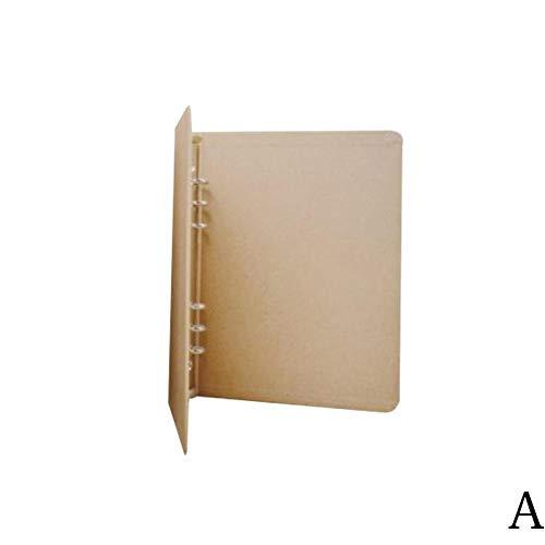 KBWL Retro A4 / A6 Kraftpapier Ordner Datei Design Kraftpapier Binder Bürobedarf Kraftpapier Ordner als Bild (Kraftpapier Binder)