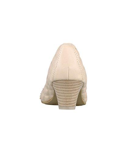KRISP® Damen Kitten-Heel Absatz Pumps mit Steppnähten Beige (5603)