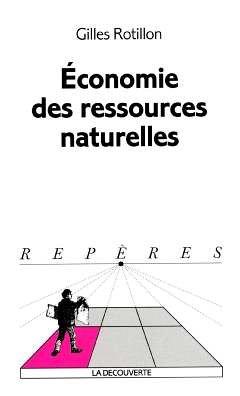 ECONOMIE RESSOURCES NATURELLES