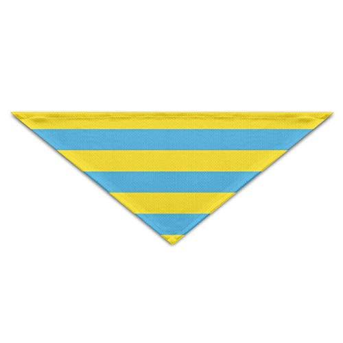 Ukraine Kostüm - Hectwya Pet Scarf, Blue Yellow Ukraine Flag Dog Bandanas Scarves Triangle Bibs Scarfs Soft Basic Neckerchief Cat Collars Pet Costume Accessory Kerchief Holiday Birthday Gift