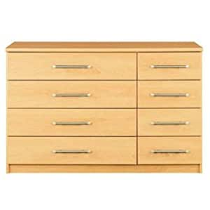 Vancouver Bedroom Furniture Chest Of Drawers And Bed Side Tables Beech 4 4 Chest Of Drawers