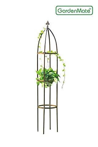 Garden Obelisk gardenmate ® BRONZE Height 190 CM Diameter 35 CM / Solid Powder-Coated steel