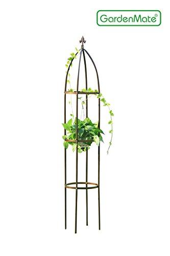 GardenMate® Obélisque Bronze massif Ø 35cm Hauteur 190cm acier (Revêtement par poudre
