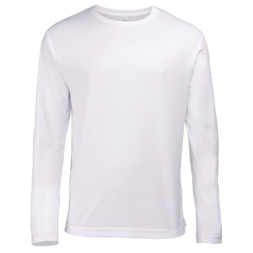 AWDis T Shirt Long Sleeve Top JC002 Just Cool Schwarz - Schwarz