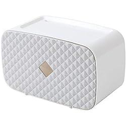 ENXING Boîte de mouchoirs en Plastique sans Coup de Poing 26x14x14cm Gris Mode Protection de l'environnement sans Odeur et antibactérien
