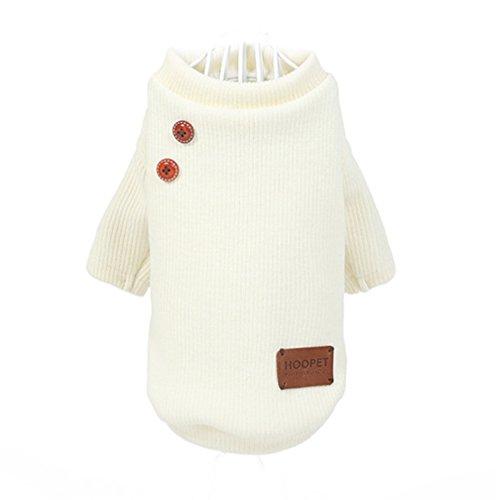 Pullover weiß Kleid Shirt Pulli Jacke Hund Katze Haustiere (Kostüm Haustier Jacke)