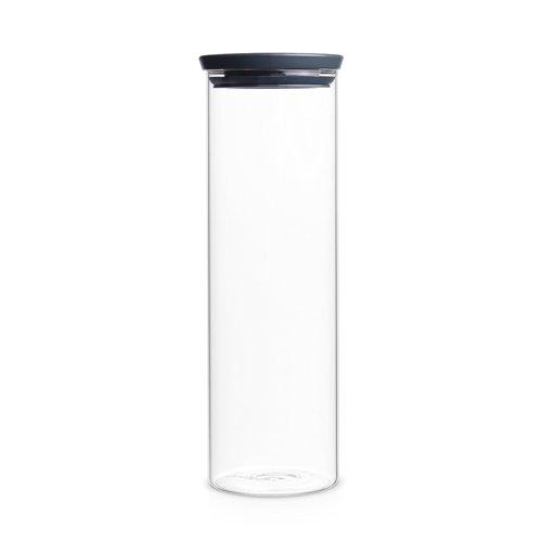 Brabantia 298240 Glasbehälter 1,9 L, dunkel grau