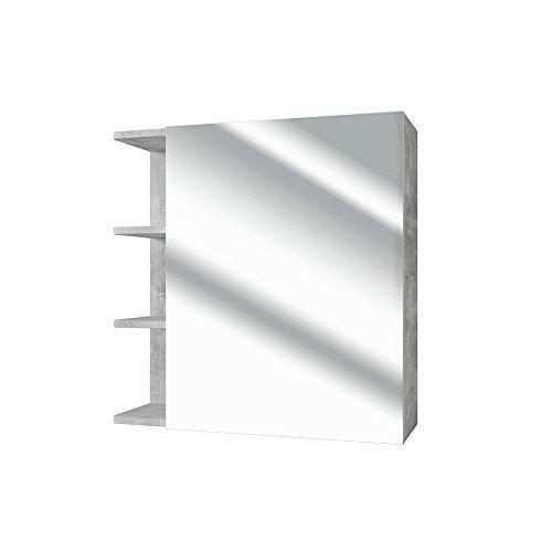 *VICCO Spiegelschrank FYNN 62 cm Beton-Grau – Spiegel Hängespiegel Badspiegel*