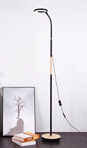 Glas Mahagoni Couchtisch (Stehleuchte Schlafzimmer einfache Mode Wohnzimmer Nachttischlampe Nordic Klavier Mahagoni Couchtisch vertikale Tischlampe ( Farbe : Schwarz ))