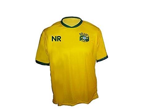 Brasilien Trikot mit Wunschname Nummer Kinder Größe 128